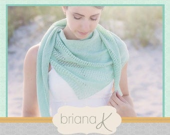 Knit Summer Shawl PATTERN, Light and Delicate, Instant Download