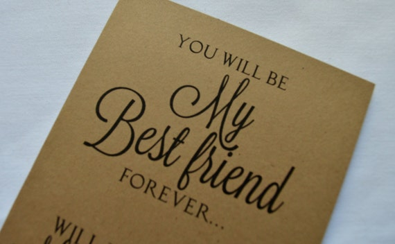 how to ask my friend to be my bridesmaid