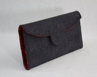 Red Geometric Batik Signature Wallet