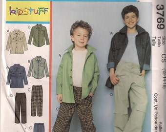 McCall's Sewing Pattern 3769 - Children's and Boys' Jacket, Shirt, and Pants (7-12, 12-16)