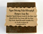 Vegan Sea Kelp Soap, Detox Soap, Chlorophyll Soap, Shampoo Soap Bar, Glycerin Soap, All Natural Soap, Antiseptic Soap, Antibacterial Soap