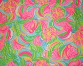 Lilly Pulitzer Fabric So A Peeling 9 x 18 inches or 18 X 18 inches