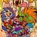 "Party Animals! Capcom Fighting Tribute - 13x16"" Print"
