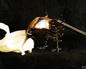 Stainless Steel Bird Sculpture, Hummingbird Style