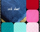 Crib Sheet Minky19 colors Baby Minky Sheet Crib