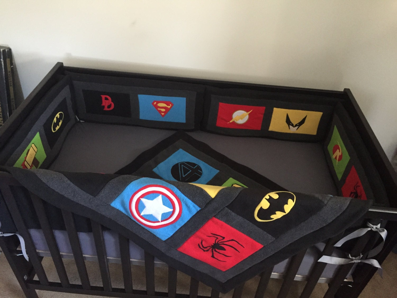 Marvel Avengers Crib Set Dc Comics Blankets By Yoderbydesign