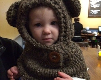 Bear hat cowl