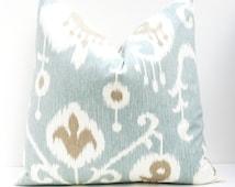 Euro Pillow Sham -  Decorative Pillows - 22x22 pillow cover - pillow covers 24x24 - 26x26 - Spa Blue - Floor Pillow - Floor Cushion - pillow