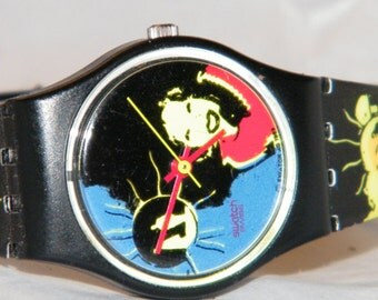 Vintage Swatch Sun Lady LB125  Spring Summer Swiss Watch