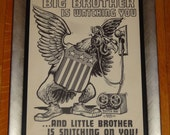 Orig. Vintage 1966 Ed Roth Big Brother Snitch Box 8x10 Poster Water Slide Decal