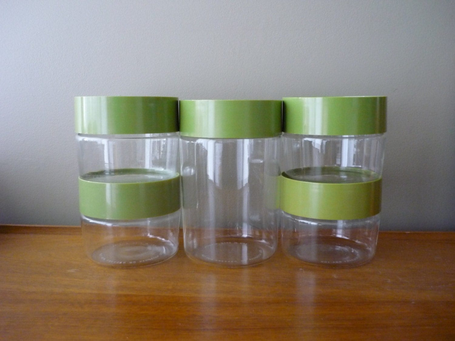 Green Canister Sets Kitchen Vintage Pyrex Glass Canister Set Retro Kitchen Storage Jars