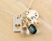 Mimi Necklace - Personalized Mothers Necklace - Family Necklace - Semi Precious Birthstones - Nana Mimi Gigi Oma Mom