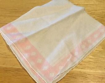Pink Border Handkerchief