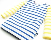 toddler girl blue yellow striped shirt long sleeve, 100% organic cotton