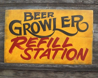 BEER  Growler   SIGN,hand painted,original Z BG2