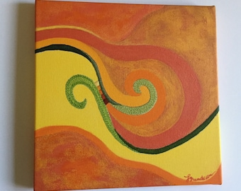 Embroidered Painting Reproduction - Abstract Wall Art on Canvas