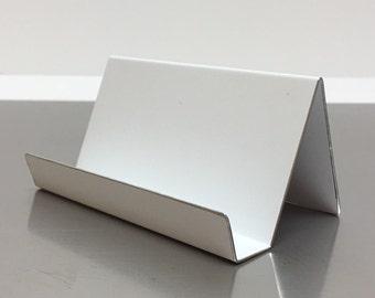 White Aluminum Cardholder