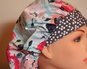 New Modern Print Bouffant Surgical Hat