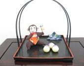 Monkey ornament, Japanese Kimono Fabric