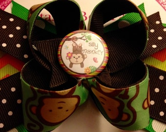 Silly Monkey Hair Bow