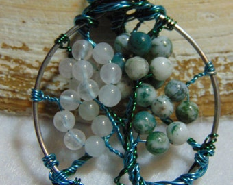 Change of Seasons Wire Wrapped Tree Pendant