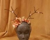 Autumn deer antler head band, headdress