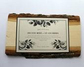 Wood Block Roses Invitation - Sample - Rustic Wedding - Vintage Wedding