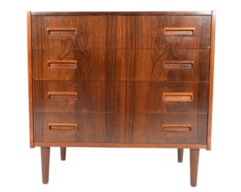 Danish Modern Mid Century Børge Seindal Four Drawer Chest in Rosewood