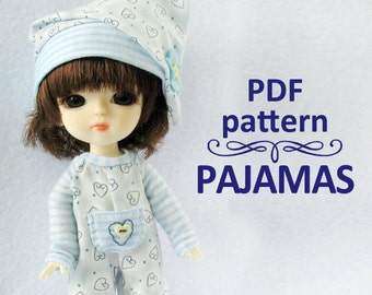 PDF pattern PAJAMAS Sleepwear Romper for Lati yellow / PukiFee