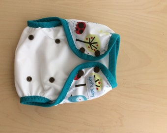 Reusable swim diaper - birds and bees