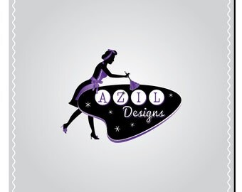 Vintage Logo Design - Made to Order - Custom Retro Business Branding - Hand Drawn OOAK Logo