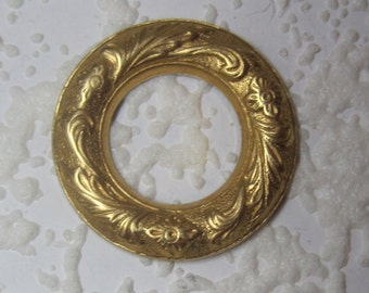 Art Nouveau Domed Unique 26MM Raw Brass Textured Circlet 6MM Band