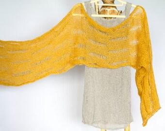 Knit Bolero Shrug, Mustard Shrug, Cropped Sweater, Cropped Shrug, Loose Knit Mohair Shrug, Boho Fashion