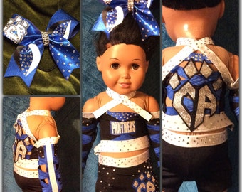 Replica doll cheer uniform