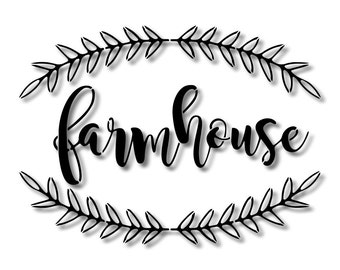 Farmhouse Laurel Branch Stencil