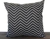 Pillow, Throw Pillow, Pillow Cover, Cushion, Decorative Pillow, Black and White Chevron modern contemporary home decor