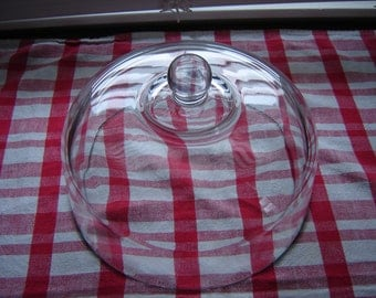 Vintage glass cake plate cover dome cloche large glass cloche with handle 10 inch globe dome food cover glass