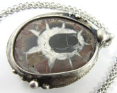 the omen - septarian stone crystal necklace