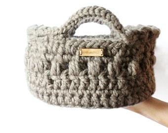 Storage basket, Crochet basket, Home decor- Organizing tools- Baby storage, Modern basket