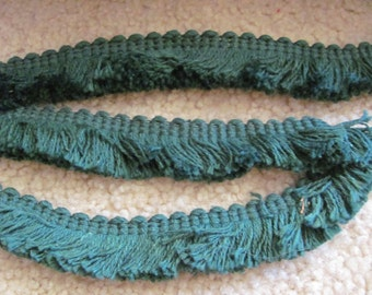"Green Fringe Gimp Upholstery Pillow Trim  - 1"" Inch Wide - 2 Yards Each Length (15)"