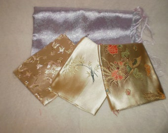 Satin Fat Quarters for Quilting and Sewing
