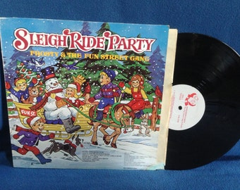 """RARE, Vintage, Frosty & The Fun Street Gang - """"Sleigh Ride Party"""", Holiday Vinyl LP, Record Album, Childrens, Traditional, Christmas"""