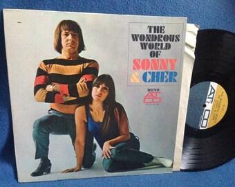 "RARE, Vintage, Sonny & Cher - ""The Wonderous World Of"" Vinyl LP, Record Album, Original 1966 MONO Press, Leave Me Be, The Revolution Kind"