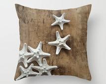 Not All Stars Belong in the Sky - Throw Photo Pillow Case [Sanibel Island Starfish Shells / Beach Ocean Seahorse Nautical Boho Florida USA]