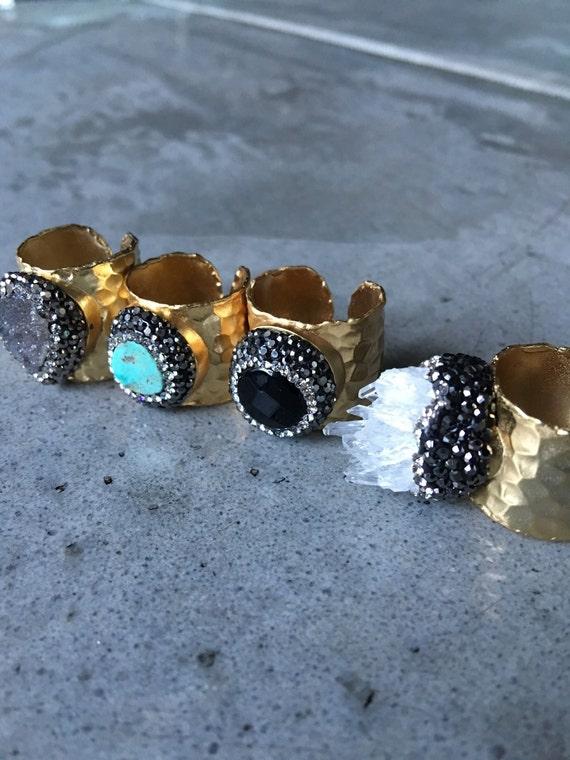Statement Rings, Quartz Ring, Turquoise Rings, Druzy Rings, Boho Rings