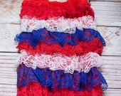 Clearance 50% off Limited Stock - Red, White and Blue romper (S)