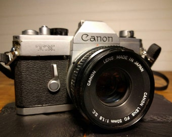 Canon TX 35mm SLR Camera with Canon 50mm f1.8 Lens