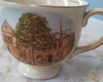 Vintage baseball hall of fame ,  Cooperstown, NY ,  Jon Roth Royal Winton tea cup ,  English hand painted cup , baseball memorabilia