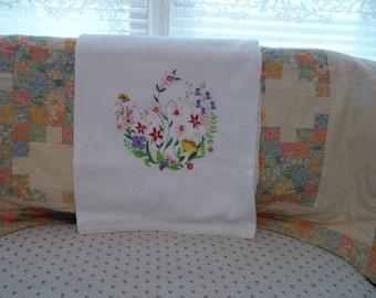 Spring Flowers Flour Sack Dish Towel