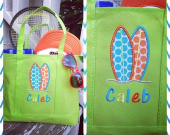 Personalized Kid's Beach Totes